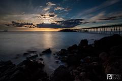 Birnbeck Sunset (philrdjones) Tags: sunset sea sky cloud beach water landscape coast pier seaside shore april westonsupermare birnbeck 2015