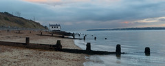 The Watch House at Lepe (chrisbutton68) Tags: sunset sea panorama horizontal landscapes sand outdoor tide scenic erosion shore solent darkwater protection groyne smuggler hightide longshoredrift watchhouse beaulieuriver lepebeach lepecountrypark