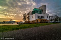2015-03-29 RTM-SCHDM-3 (Brian de Leeuw) Tags: building netherlands clouds sunrise rotterdam nederland tunnel vessel zuidholland maastunnel ssrotterdam