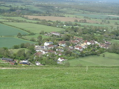 UK - West Sussex - Near Fulking - Looking down to village (JulesFoto) Tags: uk england westsussex ramblers fulkingescarpment southdownsnationalpark northeastlondonramblers