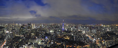 Tokyo Skyline Panorama from Roppongi Tower (inefekt69) Tags: roppongihills mori japan city skyline buildings nikon d5100 dslr panorama stitched ptgui travel asia nightphotography nightscape night view honshu 1855mm kitlens longexposure nippon nihon fareast japanese 日本 architecture outdoor skyscraper explore explored tumblr