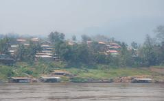 Mekong River. (RiserDog) Tags: river asia southeastasia village longboat laos mekong rivermekong