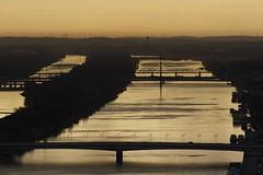 Danube - Sunset in Vienna (stecker.rene) Tags: vienna wien bridge sunset canon river landscape austria sterreich view tamron landschaft strom danube donau donauinsel 2015 eos7d 150600mm