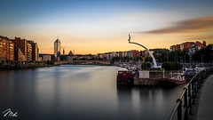 Sunset in Lige (MHPhotography91) Tags: sunset tower port canon stars french landscape golden boat long exposure day cityscape angle belgium fireworks outdoor wide july national hour 14th bastille 1740mm finance lige desaturate 2016 canon6d mhphotography
