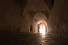 Light at the End of the Tunnel (Steve Vallis) Tags: light golden algeria tunnel arches palace bastion passageway algiers