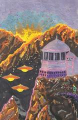 IV.2den (regina11163) Tags: ufos steepmountains landscape alienbase nightsky fantasy unreal aliensonearth paintingreproduction