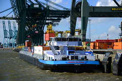 Monika Deymann DST_0232 (larry_antwerp) Tags: monikadeymann inlandwaterways binnenvaart 02335637 psa psaterminal europaterminal antwerp antwerpen       port        belgium belgi          schip ship vessel        schelde