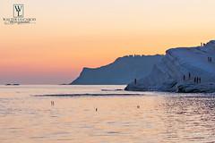 Scala dei Turchi, Realmonte (AG) (walterlocascio) Tags: scaladeiturchi mare tramonto siluette sicilia