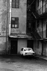 Ukraine - Lviv (Lwów) - Forgotten car Lada 2101 (Analog World Thru My Lenses) Tags: ricohxr7 rikenon50mmf14 agfaapx400 ukraine lviv lwów march 2016 rusty old classic car oldtimer forgotten lada 2101