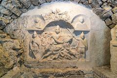 Mithrum Fertrkos, 3. Jahrhundert (Anita Pravits) Tags: cautepates cautes cautopates fertrkos hungary kroisbach kultsttte magyarorszg mithra mithraism mithraismus mithras mithrasgrotte mithraskult mithrastempel mithraszszently mithrum mitra mythraicmysteries mrbisch relief romanempire rmischesreich sanctuaryofmithras stierttung tauroktonie tempel ungarn mithraeum shrine
