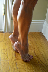 _DSC0067jj (ARDENT PHOTOGRAPHER) Tags: calves muscular female woman flexing skinny mature milf gilf highheels tiptoe