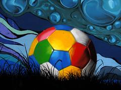 Let's play! :-) (3OPAHA) Tags: ball catchy colours bridge streetart belgrade serbia canon
