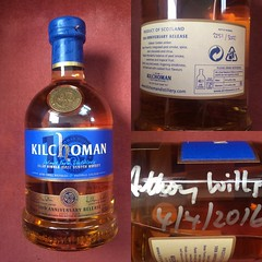 Kilchoman 10th anniversary release (reds on tour) Tags: scotland kilt islay whisky hebrides signed malt maltwhisky kilchoman kilchomandistillery anthonywills
