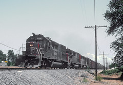 5 Dirty Southern Pacific SD Units (railfan 44) Tags: southernpacific