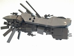 Frigate, Inflammable class, Starboard ([TGS]) Tags: lego microscale microspace frigate transformer mecha