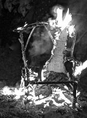 Spirits of the Burning Chair (Mystical Spirit Studio) Tags: ghosts mysterious blackandwhite spirits bonfire