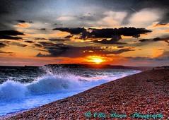Tonight's sunset down at the beach (ehawes15) Tags: summerevenings summer lateeveningsun skies breakingwave waves sea coast beach sunset