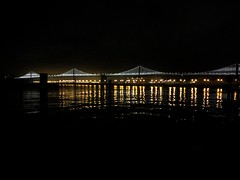 Bay BrIdge Scape (Adrian Gent) Tags: bayarea bay sanfrancisco city bridge cityscape landscape water balance night