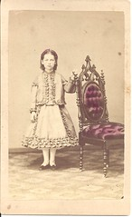 Little Girl In Attica, Indiana (ilgunmkr - Thanks for 4,000,000+ Views) Tags: cdv littlegirl 1860s civilwarera indiana victorian child 19thcentury atticaindiana fountaincountyindiana mvchapmanphotographer mosesvchapman