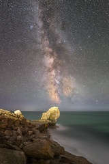 Pulpit Rock and the Core (DorsetScouser) Tags: pulpitrock portland dorset milkyway astro astrophotography sea water nightsky skyatnight darksky darkskies jurassiccoast stephenbanks dorsetscouser astronomy longexposure uk southwest england landscape seascape