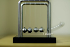 Cradle in Action (WahidHakim) Tags: newtonscradle cradle newtons stilllife macro steelball steel toy desktoptoy nicetoy