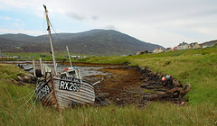 Wreck in Leverburgh on the Isle of Harris Scotland (David Russell UK) Tags: isle island harris outer hebrides scotland sea ocean seascape landscape scenery scene vista view fishing boat ship vessel vehicle wreck outdoor kelly gal rx299 rx 299 trawler work
