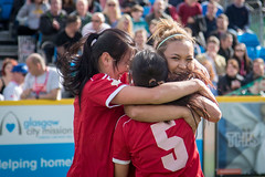 Homeless World Cup 2016, George Square, Glasgow, Scotland - 13 July 2016 (Homeless World Cup Official) Tags: hwc2016 homelessworldcup aballcanchangetheworld thisgameisreal streetsoccer glasgow soccer kyrgyzstan hug smile celebration scotland