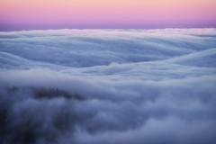 Convergence (Maddog Murph) Tags: mt tam tamalpias san francisco mountain sky sunset fog misty clouds landscape fine art pink purple blue waves