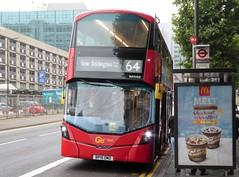 19 August 2016 Croydon (12) (togetherthroughlife) Tags: 2016 august croydon surrey bus whv60 metrobus 64 bp15omd