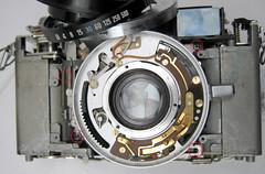 Canonet ql19 (zaphad1) Tags: repair ql19 ql 19 canonet lens housing removal ql17 17 lightmeter blue wire battery compartment