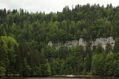 Schiff MS Jumbo ( Motorschiff - Kursschiff - Baujahr 1979 - Fahrgste 120 ) auf dem Lac des Brenets - Lac de Chaillexon des Doubs ( Fluss - River ) bei Les Brenets im Kanton Neuenburg der Schweiz und Frankreich (chrchr_75) Tags: chriguhurnibluemailch christoph hurni schweiz suisse switzerland svizzera suissa swiss chrchr chrchr75 chrigu chriguhurni mai 2015 hurni150514 albumdoubs doubs fluss river bach creek natur nature albumzzz201505mai schiff kursschiff schiffahrt kursschiffahrt passagierschiffahrt passagierschiff skib ship alus bateau    schip fartyg barco albumschweizerkursschiffe