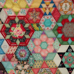 Working on #handstitching the #hexagons on... (Scheri Manson) Tags: hexagons epp handstitching paperpieces uploaded:by=flickstagram paperpiecingeverywhere smittenquilt englishpaperiecing instagram:photo=9899632206514987951457437198
