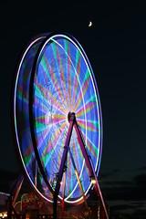 Ferris Wheel (Sandra_Gilchrist) Tags: longexposure moon wheel ferris whitby ferriswheel whitbyontario whitbyon sandragilchrist whitbyribfest