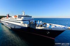 NISSOS RODOS (Giannis Soultanis Photography) Tags: blue nissosrodos hellenicseaways ship shipspotting shipphotography shiplover bow sea nikonphotography nikond7100 mytilene lesvos lesvosisland