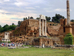 The Roman Empire Roma - Italia. (hanna_astephan) Tags: roma rome romans italia italy travel architecture history heritage romanforum juliuscaesar cloudysky tourism