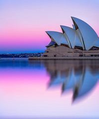 Purple Delight (silardtoth) Tags: australia opera house sydney architecture background bay beautiful blue building buildings cbd central circular quay city cityscape dawn famous harbor harbour icon iconic landmark new south wales nsw ocean purple sails theater urban operahouse circularquay newsouthwales sky summer sun travel water
