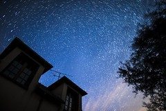 DSC3078-_DSC3096_lighten (cedvanb) Tags: polaris startrails d810 sigma20mm14 astrophotography nightscape