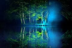 Friday (palateth) Tags: lightpainting lightart night belgique belgie belgium urbex urbanexploration blue island smoke ig