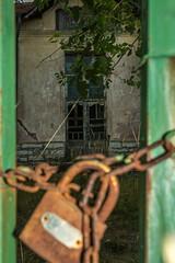 The old school (Milen Mladenov) Tags: old school abandoned broken glass grass gate chain bulgaria padlock locked 2016 d3200