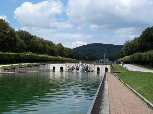 Reggia Caserta - Bourbon royal palace, water cascade (2)