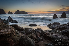Rodeo Beach (www.matthewdowningphotography.com) Tags: sf sanfrancisco california longexposure sunset usa sun beach water america bay rocks waves unitedstates rodeo sanfran westcoast goldenhour rodeobeach