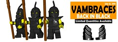 Black Vambraces are back! (BrickWarriors - Ryan) Tags: brickwarriors custom lego minifigure weapons helmets armor thrall pike vambraces black soldier army medieval fantasy castle