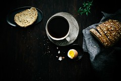 breakfast (lisa_shen) Tags: breakfast multigrainbread coffee boiledegg overhead