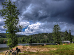 As we wait for the afternoon rain. Telemark, Norway (JRJ.) Tags: norway norge telemark kanal canal mountain lake weather rain nature beatiful