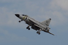 SE-DXN Saab 37 Viggen (eigjb) Tags: swedish air force historic flight eime baldonnel military base casement aerodrome dublin ireland bray airshow july 2016 aircraft jet fighter saab airplane aviation plane spotting irishaircorps irish corps sedxn viggen sb37