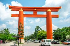 (蔡藍迪) Tags: ed 18g 35mm japan japanese d600 nikon nidomenokyoto kyoto 京都 日本 nipon torii 鳥居 平安神宮 大鳥居 二度目の京都
