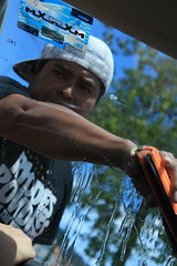 IMG_0523 (biadeli) Tags: mxico streets chiapas gente trabaj trabajo pobreza fotoperiodismo journalism auto parabrisas coche rojo hombre joven vida mirada desesperacin decepcin tristeza