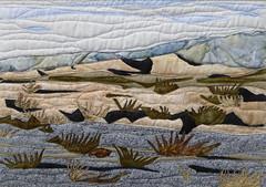 Mesquite Flat Dunes (JerilynnBush.com) Tags: jerilynnbushfiberart cotton mountains fused rawedge freemotionquilting deathvalleynationalpark desert