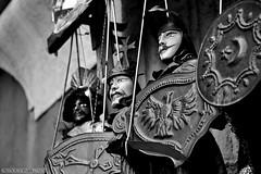 Shields and Swords / Sicilian Puppets / #CT #Sicilia #Italia . (rossolavico) Tags: europa europe italia italy sicilia sicily catania squatritomassimilianosalvatore rossolavico centrostoricocatanese raw filerawnefconversionjpeg filerawnef fileraw viewnx2users tuttiidirittiriservati nikond3100 pupisiciliani maestripupari masterofpuppets bw souvenir bianconero allrightsreserved portauzedacatania uzedadoorcatania
