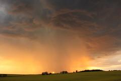 Fire and Rain (**MIKA**) Tags: gewitter lightning blitz donner sonnenuntergang stormcell mosen thrigen wnschendorf elster raps gewitterwolken stormclouds